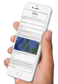 Using the AshTag app on your smartphone or tablet in the field makes the survey really simple