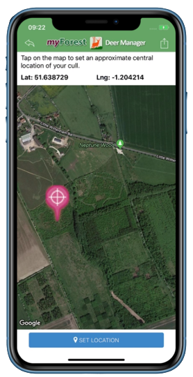 Deer Manager App on a mobile phone