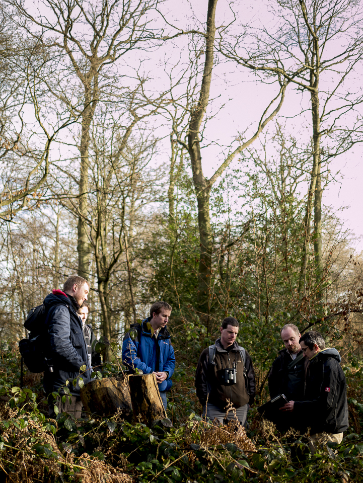 Sylva's Paul Orsi meets with members of the RSPB Forestry and Reserves team at a small woodland reserve