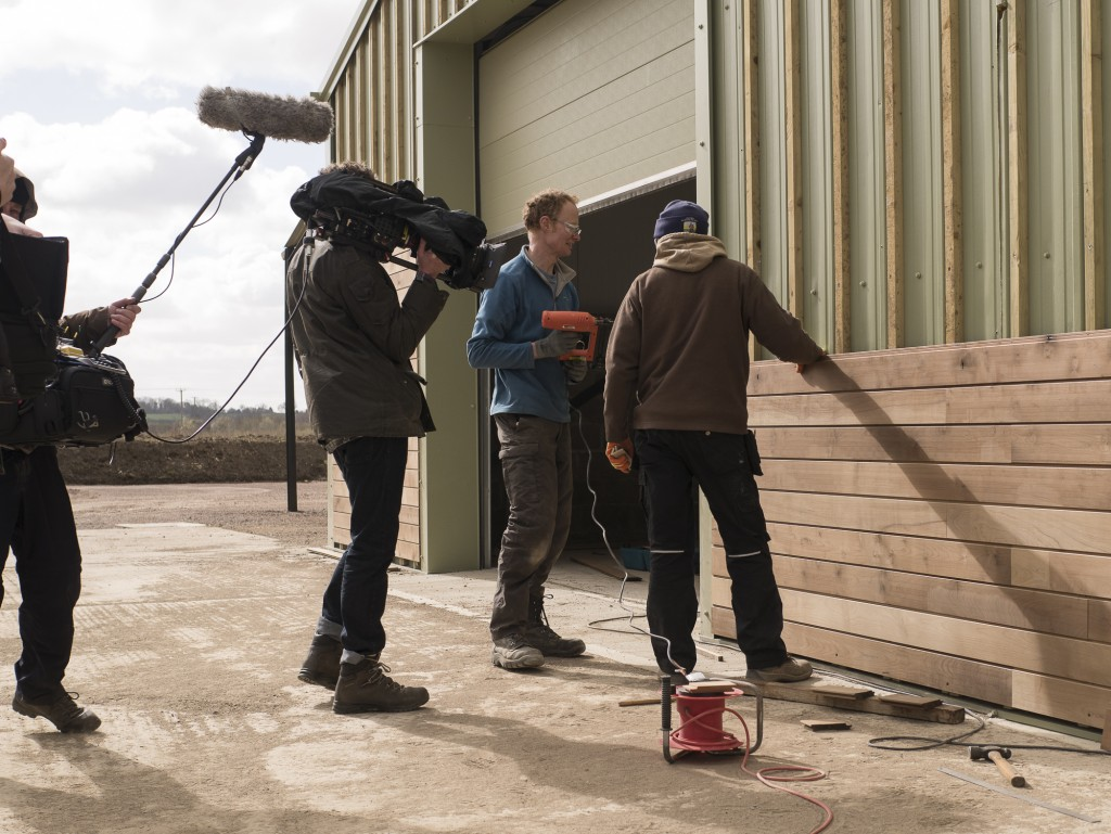 BBC filming at the Sylva Wood Centre