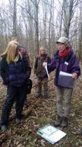 Jen Hurst delivers the woodland management workshop