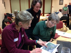 Jen Hurst shows participants how to create a map of their Forest School site using myForest for education.