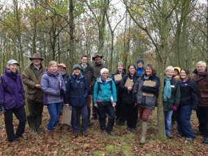 Participants on the myForest for Education workshop, in Dumbles Wood, part of the National Forest