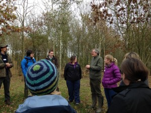 A woodland owner at the National Forest shares his experiences with the group