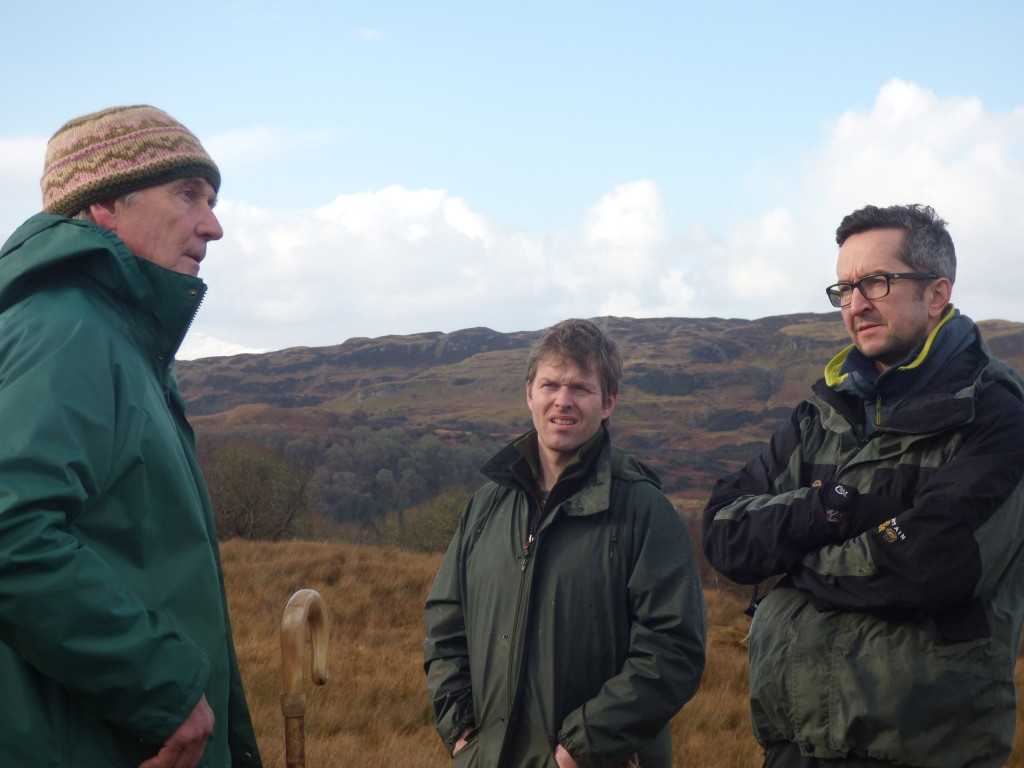 Paul Orsi discussing ideas with the Argyll Small Woodland Co-operative