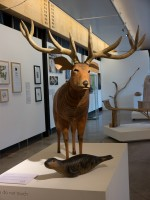 Red Deer and Seal wobbly creatures by Jeff Soan