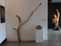 Hatstand and Giant Pebble by DZ Design, Oakbot Sculpture by Thomas Humphrey