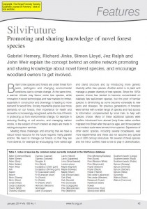SilviFuture article in the Quarterly Journal of Forestry. Click to download from our Forestry Horizons website