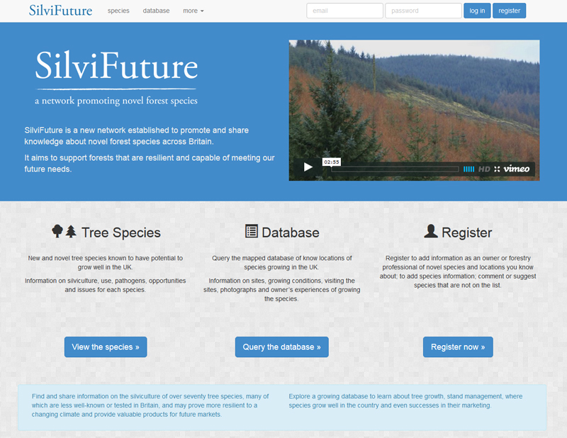 SilviFuture - a network promoting novel forest species