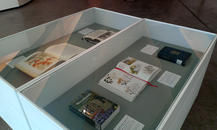 Some of the favourite books on display at RBGE