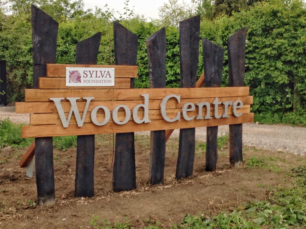Sylva Wood Centre sculpture and entrance sign