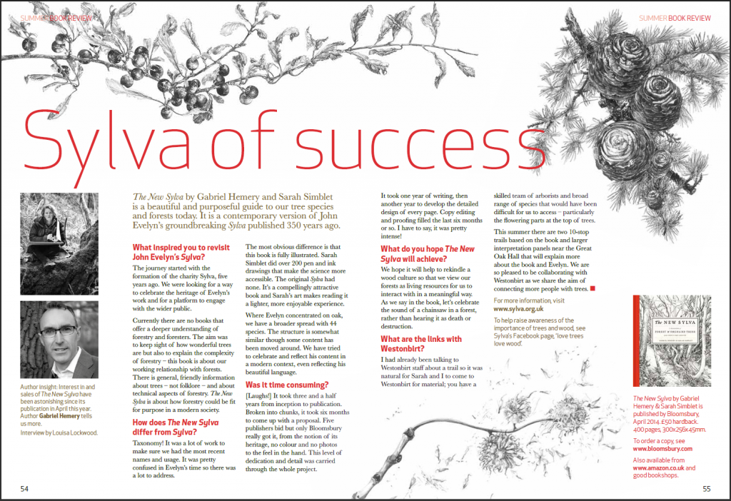 Sylva of success - read the full article in the Westonbirt Magazine - download a pdf