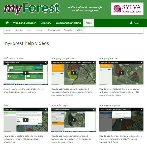 Video help on myForest