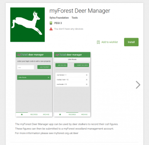 Deer Manager in the Google play store
