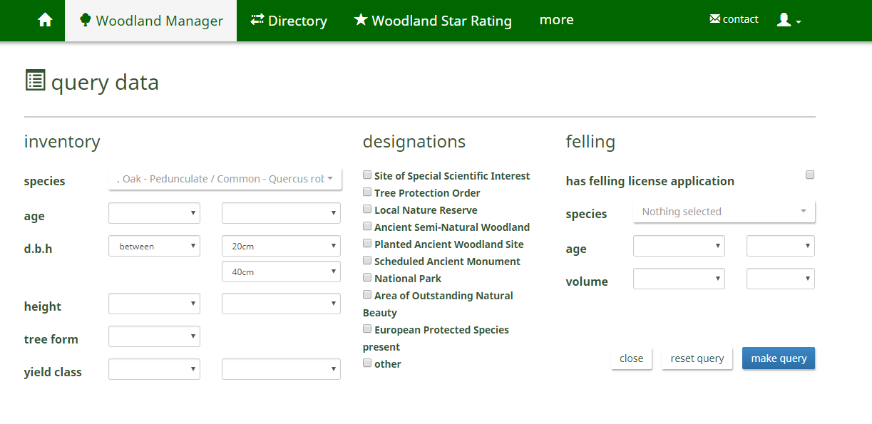 Collaborative woodland management tools on myForest