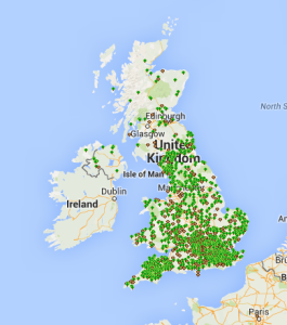 myForest mapped woodlands, August 2015