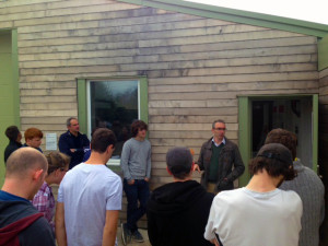 students visiting the Sylva Wood Centre