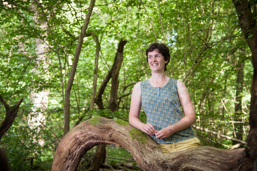 Louise Hill in Wytham Woods. Photo John Cairns