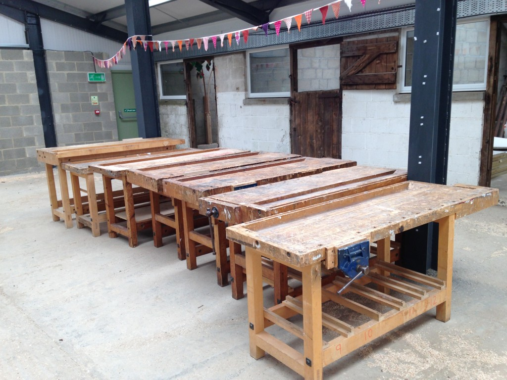 work benches loaned to the Sylva Wood Centre